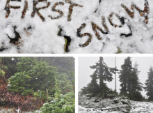 Cypress Mountain - First Snow for 2014/15 Ski Season